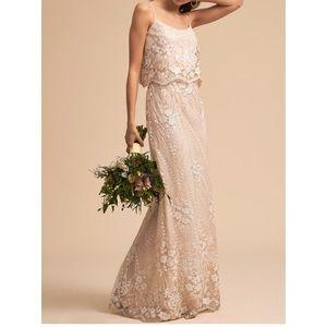 Bhldn Arden/Adrianna Papell petite wedding dress